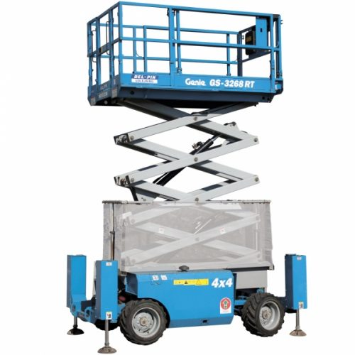 Genie 3268RT Diesel Scissor Lift Hire - Height Platforms - www.heightplatforms.ie