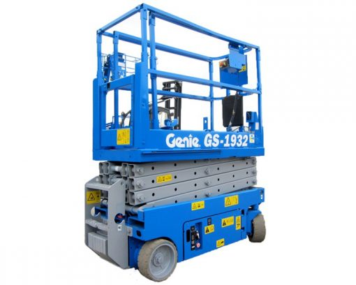 Genie GS-1932 Battery Scissor Lift Hire - Battery Scissor Lift - Height Platforms - www.heightplatforms.ie