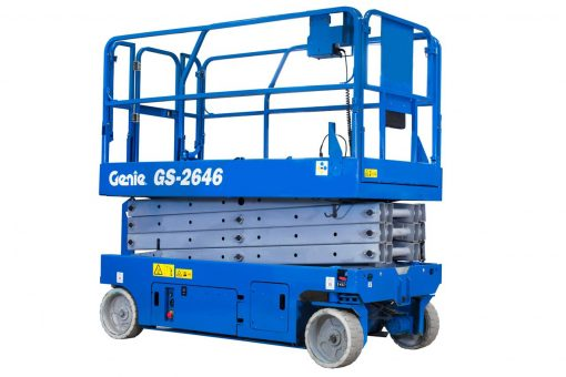 Genie GS-2646 Battery Scissor Lift Hire - Height Platforms - www.heightplatforms.ie