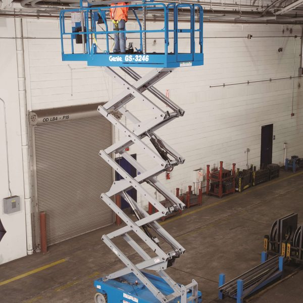 Genie GS 3246 Battery Scissors Lift 600x600 - Genie 3246