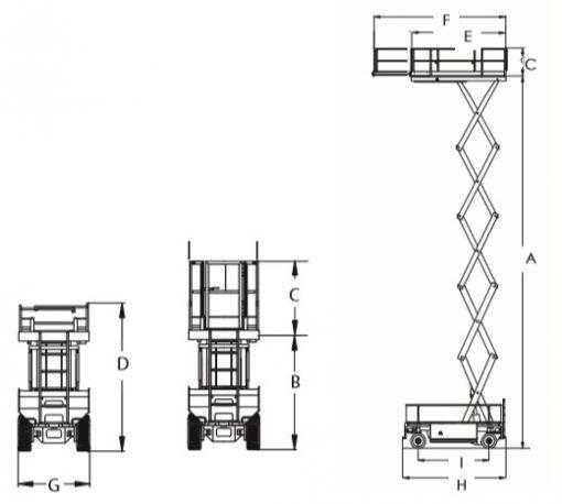 JLG Liftlux 210-25 Diesel Scissor Lift hire from Height Platforms