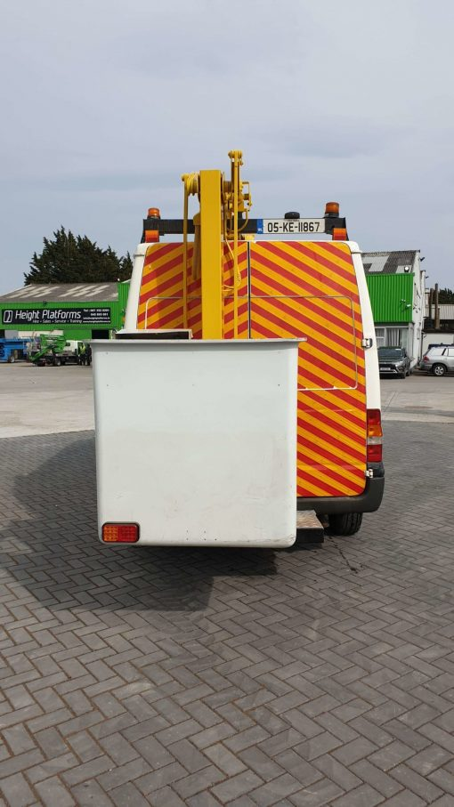 Rear View - Versalift ET36NF on Ford Transit Van for Sale from Height Platforms - www.heightplatforms.ie