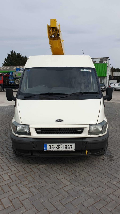 Front View- Versalift ET36NF on Ford Transit Van for Sale from Height Platforms - www.heightplatforms.ie