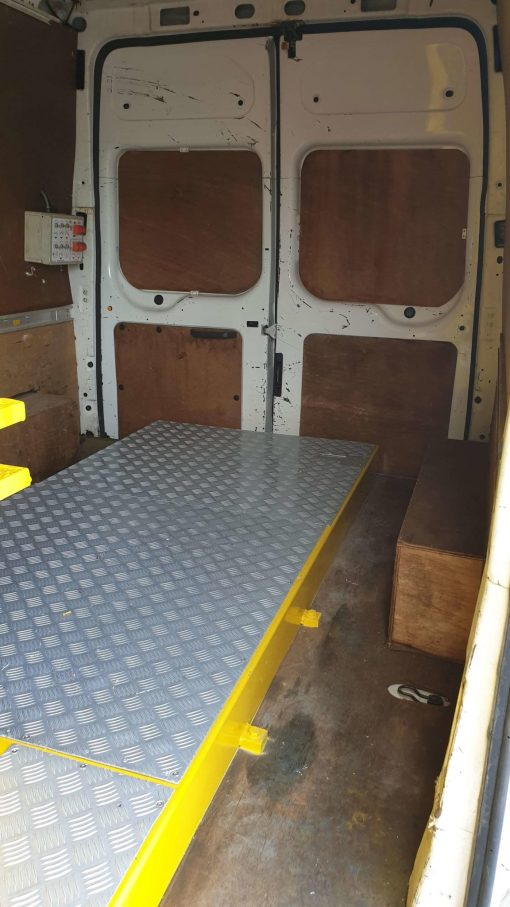 Inside - Versalift ET36NF on Ford Transit Van for Sale from Height Platforms - www.heightplatforms.ie