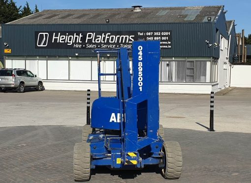 AB38 117HP front - AB38 Battery Articulated Boom Lift for Sale from Height Platforms - www.heightplatforms.ie
