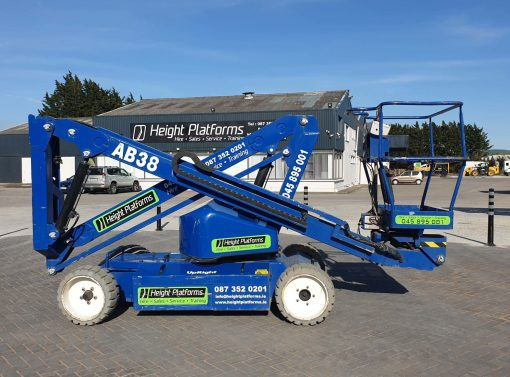 AB38 117HP left side - AB38 Battery Articulated Boom Lift for Sale from Height Platforms - www.heightplatforms.ie