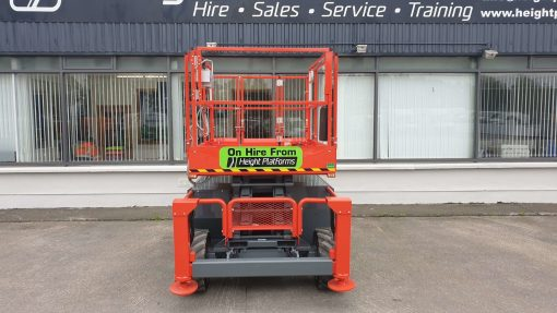 Skyjack SJ6832RT Diesel Scissors Lift for sale from Height Platforms Front View