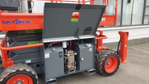Skyjack SJ6832RT Diesel Scissors Lift for sale from Height Platforms Hyd and Fuel Tanks