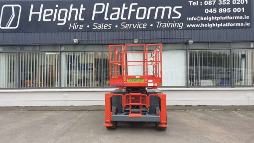 Skyjack SJ6832RT Diesel Scissors Lift for sale from Height Platforms Rear View